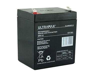 ULTRAMAX 12V 5.0ah (replaces All 4ah & 4.5ah) - Brand New - Cube Shape Battery • 13.99£