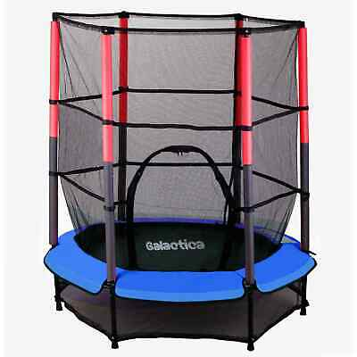 WestWood Children's Mini Trampoline With Safety Net – 4.5FT Kids Rebounder Blue • 99.90£