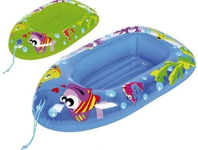 Fish Childs Inflatable Dinghy Float Boat Kids Children Swimming Pool Beach Toy • 7.99£