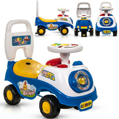 My First Blue Ride On Car Baby Girl/ Boy Push Along Sound Effects W/ Storage • 19.94£