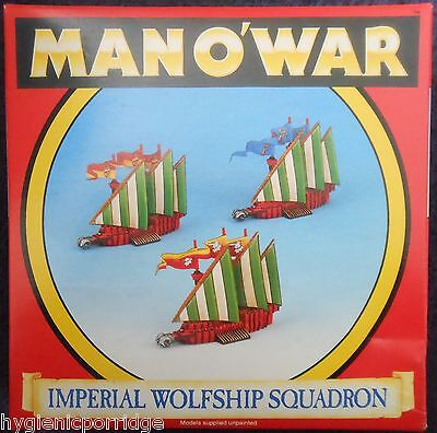 1993 Man O' War Imperial Wolfship Squadron Games Workshop MOW Ship Empire Galley • 85£