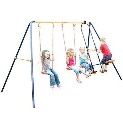 Hedstrom Neptune Double Swing And Glider Childrens Kids Garden Play Ground Set • 83.92£