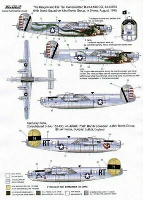 Xtradecal X72082 1/72 Consolidated B-24J Liberator Model Decals • 10.79£