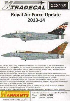 Xtradecal X48139 1/48 RAF 2014 Update Model Decals • 8.29£