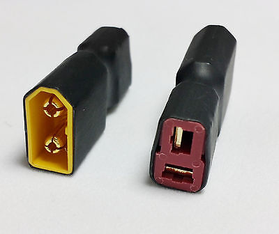 Male XT60 To Female Deans T Connector (RC Adaptor/Converter) 1 /2 Qty MultiPack • 2.49£