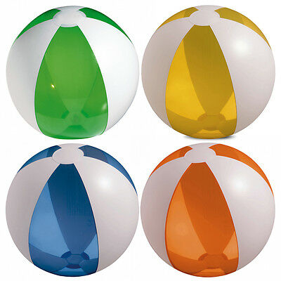 6 X Colour Inflatable Blowup Beach Ball Holiday Swimming Pool Party • 6.99£