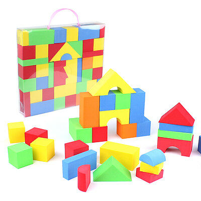 65 Educational Soft EVA Foam Building Blocks Bricks Play Toys For Children Kids • 13.99£