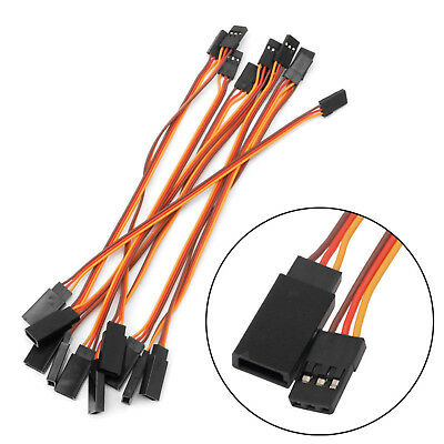 15cm JR Servo Extension Lead Wire Cable For RC Futaba Spektrum (Male To Female) • 1.99£