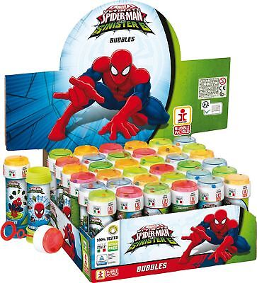 Spiderman Bubble Blowing Tubs Childrens Party Bag Filler Toys • 1.59£