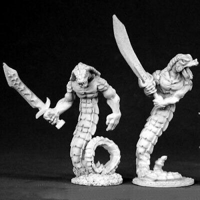 Reaper Dark Heaven Legends 02498 Snakemen Monster Serpent Snake Man Yuan-ti AD&D • 8.50£