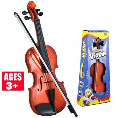 Educational Children Cute Music Violin Battery Operated Toy GIFT For Kids Brown  • 12.99£
