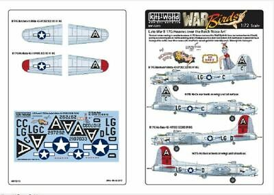 Kits-World KW172172 1/72 Boeing B-17G Flying Fortress Model Decals • 10.75£