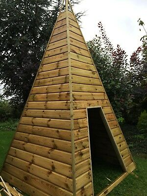 Wooden Teepee Playhouse Story Room Handmade • 500£