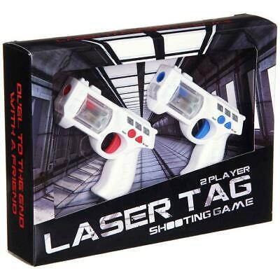 Laser Tag 2 Player Lazer Combat Space Blaster Mini Toy Guns Game With Sound FX • 14.95£