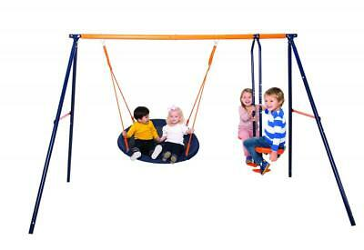 Hedstrom Nebula Kids Childs Outdoor Playground Play Set Glider And Nest Swing • 149.49£