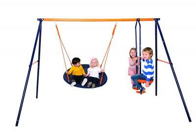 Hedstrom Nebula Kids Childs Outdoor Playground Play Set Glider And Nest Swing • 159.99£