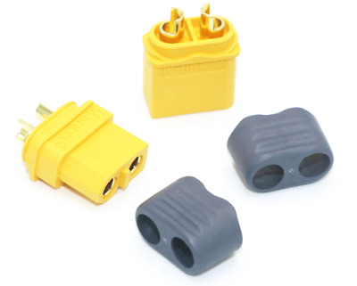 AMASS XT60+ XT60H (Yellow) Male/Female Connector Pairs With Insulating Caps • 6.98£