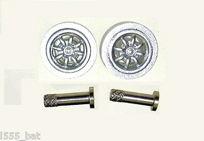 Scalextric SparesW10033 Classic Mini Cooper S Front Minilite Wheels & Pins Bolts • 3.99£