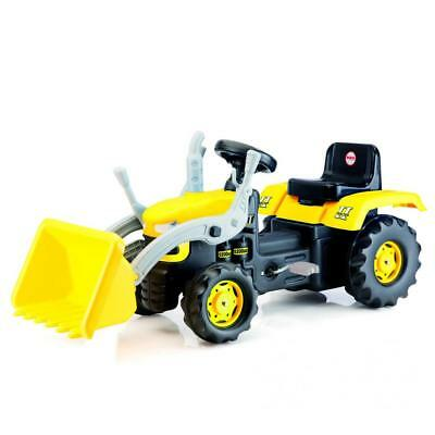 Dolu Kids Ride On Tractor Pedal Operated Toy Excavator Yellow 3+ Outdoor Garden • 59.99£