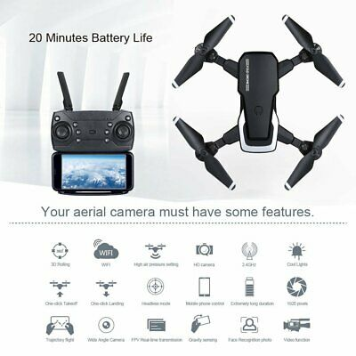 RC Drone Quadcopter With 5MP HD Camera WIFI 4CH 6-Axis Foldable Altitude Hold UK • 39.99£