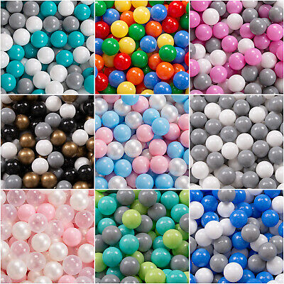 KiddyMoon New Kids Plastic Soft Play Balls For Children Ball Pits, Multicoloured • 18.89£