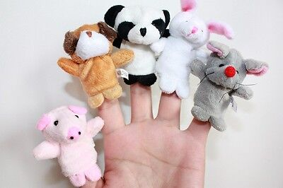 New Animal Finger Puppet Cute Educational Game Baby Toy Bag Filler • 1.89£