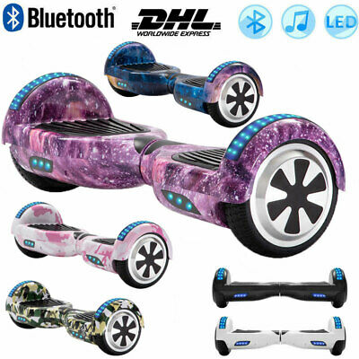 Electric Scooters 6.5  Hoverboard Bluetooth Self Balance Board LED Wheels Lights • 128£