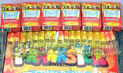 18 X Stink Bombs Glass Vials Smells Of Rotten Eggs Have Some Fun Let One Go NEW • 5.49£