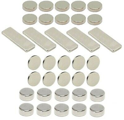NEW Scalextric Magnatraction Neodymium Performance Magnets Disc & Rectangular  • 5.99£