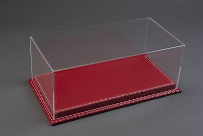 1/24 Display Case, Red Leather Stitched Base Hand Made, Brand New • 44.99£