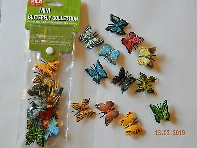 12 Mini Plastic Butterflies! Educational! 4cm! Party Bag Toy! Gift! Butterfly!  • 5.99£