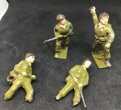4 Vintage Cherilea Lead American Soldiers For Restoration • 15£