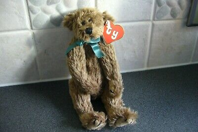 1993 - Ty Attic Bears - Wee Willie - Green Ribbon - Tag Excellent Condition • 24.99£