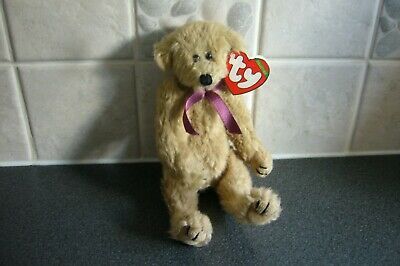 1992  Ty Attic Bears - Tiny Tim - Burgundy Ribbon - Tag Excellent Condition Rare • 24.99£