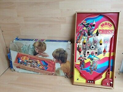 Vintage Flipper Table Top Game ARCO FALC Moto Cross Theme Pinball Made Italy • 34.99£