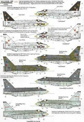 Xtradecal X48099 1/48 BAe/EE Lightning F.3A And F.6 Model Decals • 8.29£