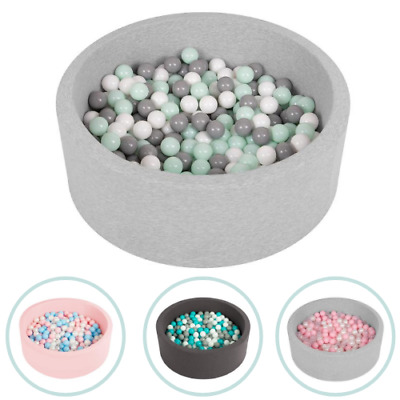 Selonis Soft Ball Pit Pool Round 90x30cm For Baby Toddler 200 Balls Foam • 54.99£