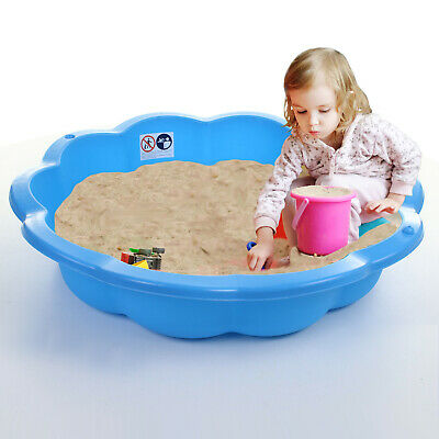 Sand Pit Paddling Pool Blue Plastic Outdoor Garden Kids Childrens Toy Play Water • 19.99£