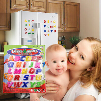 Fridge Magnets Alphabets Numbers Strong Magnetic Kids Learning Educational Toy • 3.99£