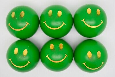 Green Smiley Lacquered Coches For Petanque/Boules Different Quantitys Available  • 12.99£
