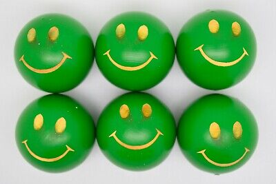 Green Smiley Lacquered Coches For Petanque/Boules Different Quantitys Available  • 24.99£