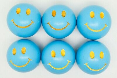 Sky Blue Smiley Coches For Petanque/Boules Different Quantitys Available  • 12.99£
