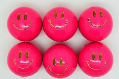 Pink Smiley Lacquered Coches For Petanque/Boules Different Quantitys Available  • 12.99£