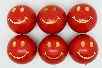 Red Smiley Lacquered Coches For Petanque/Boules Different Quantitys Available  • 12.99£