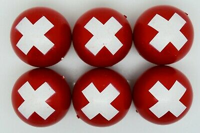 Switzerland Flag Coches For Petanque/Boules Different Quantity's Available  • 12.99£