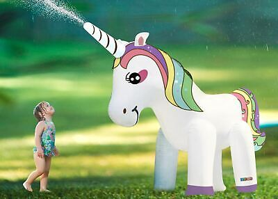 Rexco Giant Inflatable Unicorn Sprinkler Garden Pool Toy Water Hose Jet Sprayer • 29.99£