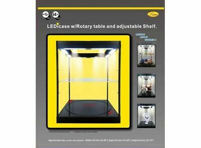 Turntable And Shelf Display Case, With Lights. Ideal 1/18 + 1/24 • 119.99£