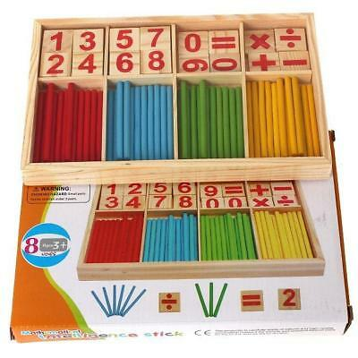 Wooden Math Counting Game Sticks Kids Educational Learning Numbers Abacus Toy CH • 5.04£