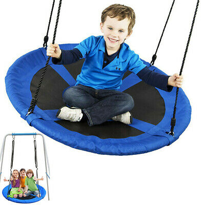 40  Round Kids Garden Swing Tree Hanging Hammock Crows Bird Nest Swing Blue • 41.92£