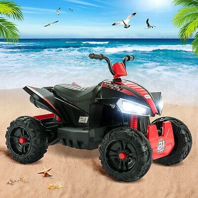 12V Kid Ride On Car Electric Licensed Electric Quad Bike Larger Size Red 2 Speed • 139.99£